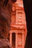 Vista del Hacienda del Siq, Petra Fotografía de archivo
