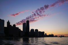 Vista del horizonte céntrico de Chicago Imágenes de archivo libres de regalías