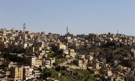 Vista del horizonte de Amman, Jordania Foto de archivo libre de regalías