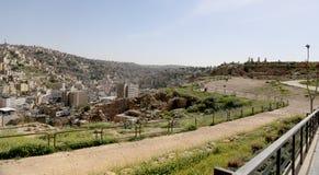 Vista del horizonte de Amman, Jordania Imagen de archivo libre de regalías