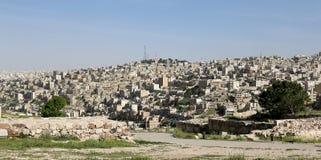 Vista del horizonte de Amman, Jordania Fotos de archivo libres de regalías