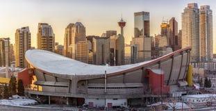 Vista del horizonte de la ciudad de Calgary Imagen de archivo