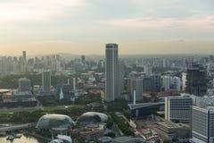 Vista del horizonte de la ciudad de Singapur Fotos de archivo libres de regalías