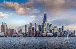 Vista del horizonte de Manhattan fotografía de archivo libre de regalías