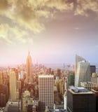 Vista del horizonte de Manhattan Imágenes de archivo libres de regalías