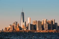 Vista del horizonte de Manhattan en NYC Imagen de archivo libre de regalías