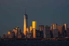 Vista del horizonte de Manhattan en NYC Imagen de archivo
