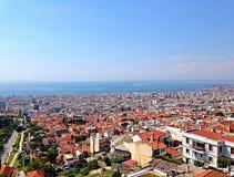 Vista del horizonte de Salónica Fotos de archivo libres de regalías