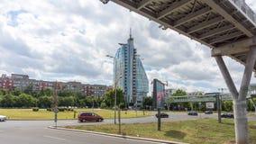 Vista del hotel del espejismo en búlgaro Burgas Fotografía de archivo