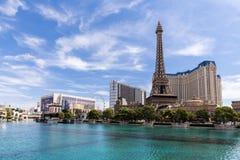 Vista del hotel y del casino, LAS VEGAS, los E.E.U.U. de París Las Vegas Imagenes de archivo