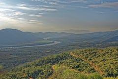 Vista del huallaga del fiume, san Martin, Perù Fotografia Stock
