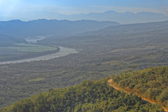 Vista del huallaga del fiume, san Martin, Perù Immagine Stock Libera da Diritti