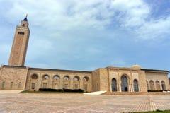 Vista del ibn Anas Mosque de Malik en Cartago, Túnez fotografía de archivo libre de regalías