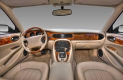 Vista del interior de un automóvil moderno fotografía de archivo