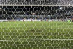Vista del juego de la liga del Europa de la UEFA entre Qabala y el PAOK, beh Fotos de archivo libres de regalías
