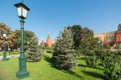 Vista del Kremlin del jardín de Alexander Fotografía de archivo