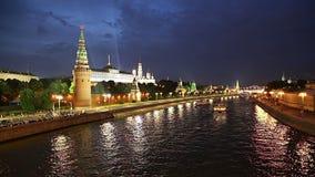 Vista del Kremlin, Moscú, Rusia--la vista más popular de Moscú almacen de metraje de vídeo