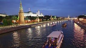 Vista del Kremlin y del río de Moskva, Moscú, Rusia--la vista más popular de Moscú metrajes