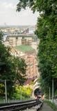 Vista del Kyiv funicolare Fotografia Stock Libera da Diritti