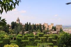 Vista del La Alhambra, España Fotos de archivo libres de regalías