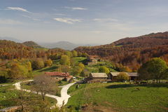 Vista del La Garrotxa.Catalonia.Spain imágenes de archivo libres de regalías
