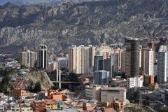 Vista del La Paz fotografía de archivo libre de regalías