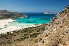 Vista del laggon asombroso de Balos, Crete, Grece fotos de archivo libres de regalías