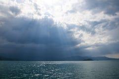 Vista del lago Fotografía de archivo