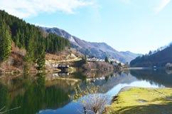 Vista del lago Fotografie Stock