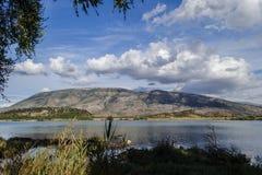 Vista del lago Immagini Stock