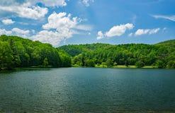 Vista del lago Abbott un giorno di primavera fotografia stock libera da diritti