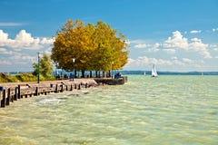 Vista del lago Balaton en Hungría Imagenes de archivo