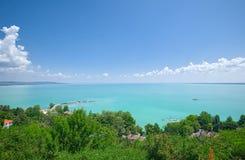 Vista del lago Balaton, Ungheria Fotografie Stock Libere da Diritti