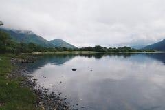 Vista del lago Bassenthwaite en distrito inglés del lago Fotos de archivo libres de regalías