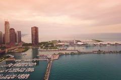 Vista del lago chicago imágenes de archivo libres de regalías