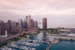 Vista del lago chicago fotografía de archivo