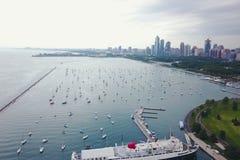 Vista del lago chicago imagen de archivo