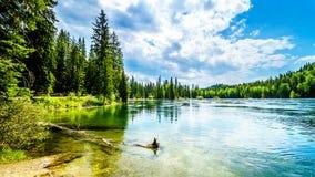 Vista del lago Clearwater en Wells Gray Provincial Park, A.C., Canadá fotografía de archivo libre de regalías