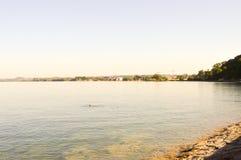 Vista del lago Coblenza Fotografie Stock Libere da Diritti