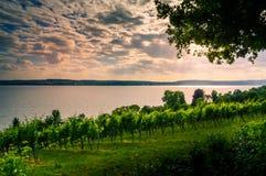 Vista del lago Coblenza dal tedesco Fotografia Stock Libera da Diritti