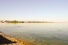 Vista del lago Coblenza sul tedesco Fotografia Stock Libera da Diritti