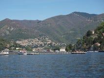 Vista del lago Como Imagen de archivo