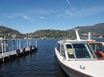 Vista del lago Como Fotos de archivo libres de regalías