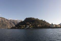 Vista del lago Como, Italia Fotos de archivo libres de regalías