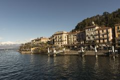 Vista del lago Como, Italia Fotografía de archivo libre de regalías