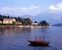 Vista del lago Como y Tremezzo, Italia. Imagenes de archivo