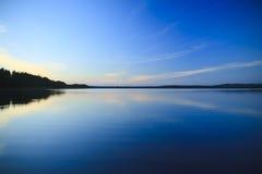 Vista del lago dalla Finlandia Fotografie Stock