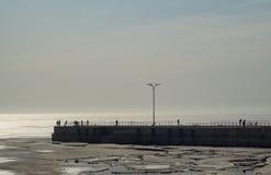 Vista del lago del amarre Fotografía de archivo libre de regalías