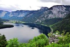 Vista del lago di Hallstatt Fotografia Stock Libera da Diritti