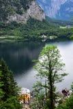 Vista del lago di Hallstatt Immagini Stock Libere da Diritti